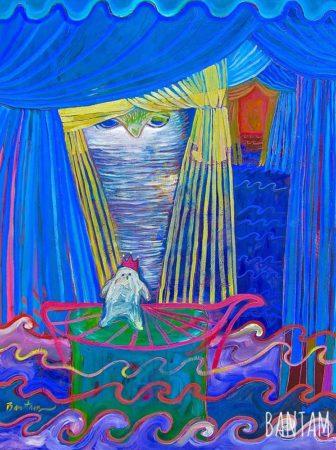 owl behind the curtain