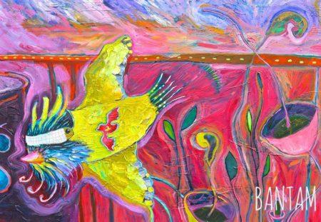 blindfolded yellow bird