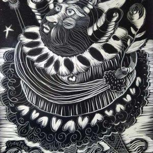 ENCORE etching by Wendy Bantam