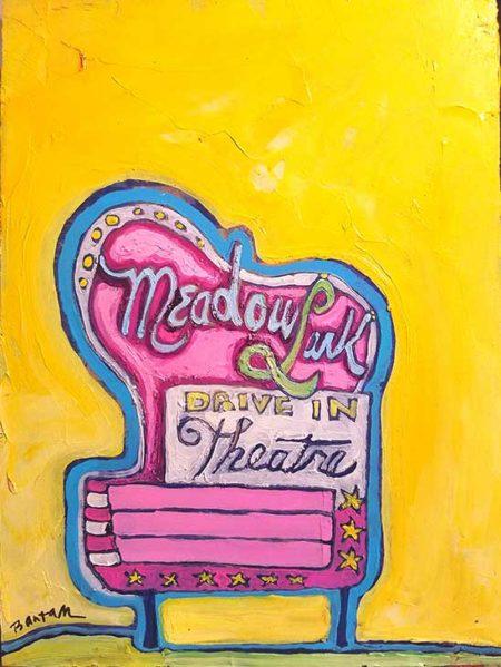 Meadowlark Drive-In painting by Wendy Bantam